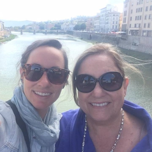 Susan and Emily in Florence